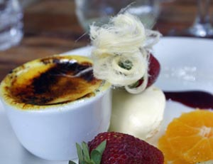 creme brulee at pod