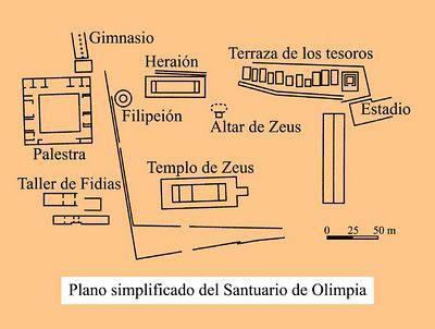 Plano del Templo de Olimpia