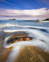 North Berwick, Scotland (Corica) Tags: uk longexposure greatbritain sea beach rock stone landscape march scotland sand bravo waves britain tide estuary foam northberwick firthofforth bassrock eastlothian craigleith sigma1020 corica canon400d aplusphoto