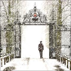 Trinity in the snow (Sir Cam) Tags: uk cambridge england snow college easter university trinity sircam