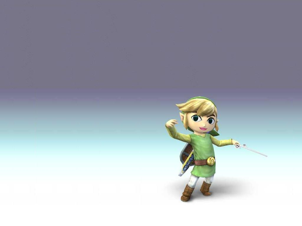 Super Smash Bros. Brawl Desktop Wallpaper: Toon Style Link