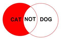 cat NOT dog boolean venn diagram