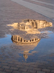 Puddle (historygradguy (jobhunting)) Tags: reflection church water boston ma puddle grandmother pavement massachusetts bricks newengland thumbsup mass reflexions christianscience motherchurch twothumbsup bigmomma christianscientist babymomma challengeyouwinner aplusphoto thumbsupwinner 100commentgroup
