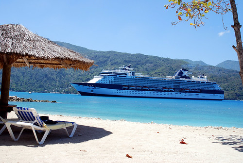 Celebrity Millennium viewed from Labadee Haiti