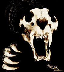 Tiger Skeleton (Little Lioness) Tags: art cat skull artwork fierce awesome demonic predator lionskull tigerskull tigerskeleton lionskeleton
