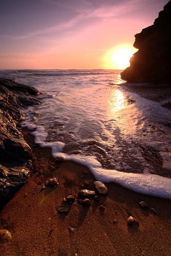 Plage au soleil couchant, Vendée