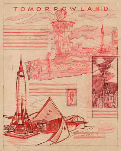 Disneyland Tomorrowland Illustrations 1955