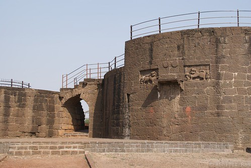 The 'Buruz' where the 'Malik-e-Maidan' cannon is placed