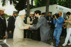 Hadhrat Mirza Tahir Ahmad with Abdullah Uwe Wagishauser (adherer0) Tags: germany messiah ahmad uwe tahir imam promised mirza abdullah mahdi caliph ghulam ahmadiyya wagishauser khalifat
