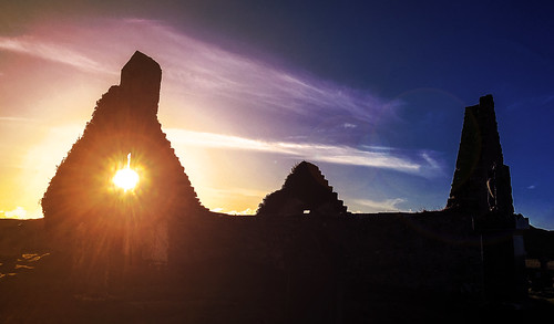 Balnakiel Church silhouette