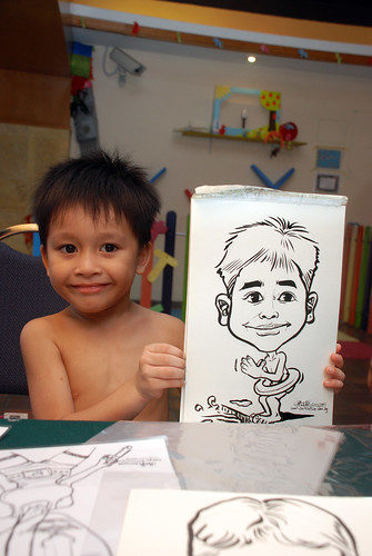 Caricature live sketching for Costa Sands Resort Pasir Ris Day 1 - 10