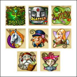 free Forest Treasure slot game symbols