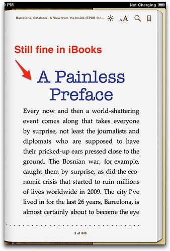 Hyphens in iBooks