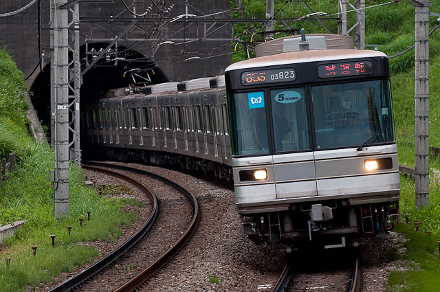 東京メトロ日比谷線03系 03-123F 出場試運転
