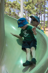Twisty Slide #3 (Craig Dyni) Tags: boy playground colin slide finn greatuncle greatnephew dyni