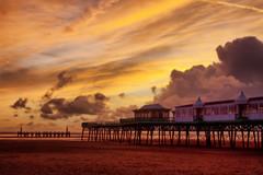 Sunset 16th October 2007 - Lytham St.Annes (Nigel Lingings) Tags: sunset sea sky beach pier piers sunsets lancashire lytham lythamstannes hdr stannes boadwalk