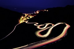 The road to a prosperous city (Fishtail@Taipei) Tags: night taiwan lighttrail jofen