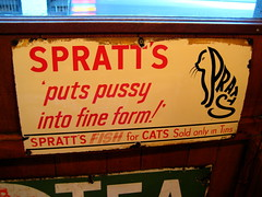 Spratt's Pussy (DanMud) Tags: uk england london vintage advertising typography star cafe soho pussycat spratts danmud