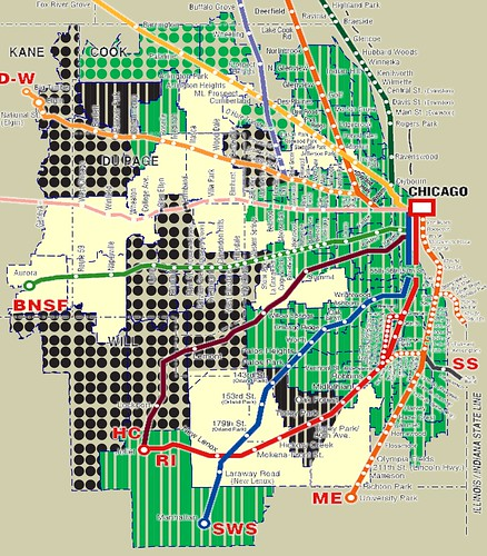 Rough Metra Overlay of Illinois House initial vote on SB572, funding for Metra, CTA and Pace