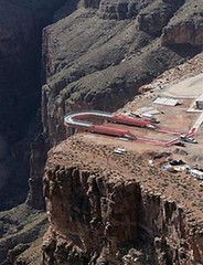 Aerial view of the construction of the Grand Canyon Skywalk (ariztravel) Tags: grandcanyonskywalk hualapaitribe grandcanyonwestrim grandcanyonwestedge
