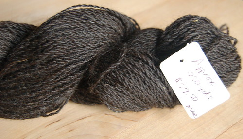Locally raised and spun alpaca