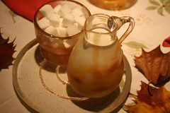 """blown sugar and creamer, sandcast plate • <a style=""""font-size:0.8em;"""" href=""""http://www.flickr.com/photos/45675389@N00/1867696057/"""" target=""""_blank"""">View on Flickr</a>"""
