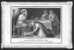 Marie Madeleine aux pieds de Jésus