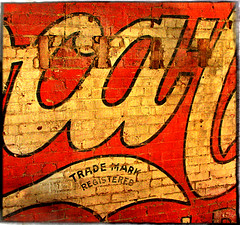 TradeMark (FotoEdge) Tags: art painting downtown cola bricks 1800s coke bluesky streetscene mo homemade missouri handpainted leftovers nostalgic registered cocacola trademark flaking excelsiorsprings paintedsign bustling fadingfast fotoedge excelsiorspringsmural