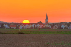 September Sky (DFSB DE) Tags: sun church weather countryside dusk hdr 3xp tonemapped fdrtools