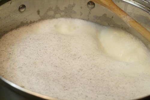 Don't be afraid to let the milk come to a rolling boil