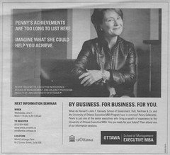 "University of Ottawa Executive MBA advertisement • <a style=""font-size:0.8em;"" href=""http://www.flickr.com/photos/21584185@N07/2116135141/"" target=""_blank"">View on Flickr</a>"