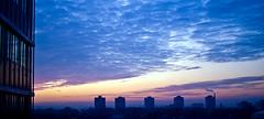 The Guardians (e/rol) Tags: blue light sunset panorama sun sunlight clouds deutschland evening sonnenuntergang availablelight five widescreen towers experiment wolken mainz farben rheinlandpfalz guardians lichtstimmung