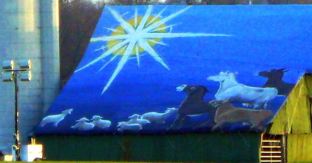 Closeup of Christmas Mural