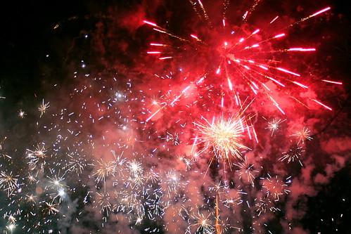 Firework Display - Hogmanay Street Party, Dornoch, Scotland