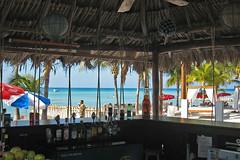 beach bar (green socks rock!) Tags: beach bar mexico island cancun caribbean mujeres isla