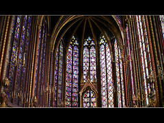 Sainte-Chapelle (I) (MarcelGermain) Tags: blue windows sculpture paris france building glass architecture geotagged gold golden sainte candles gothic columns statues frana chapel stainedglass landmark chandeliers 75004 myfavourites chapelle saintechapelle ledelacit mywinners twtmesh050818