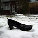 Shoe in the snow