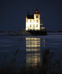 P1060411Q (Mark J. Teleha) Tags: ohio lighthouse night evening lakeerie landmark panasonic lorain loraincounty lorainohio 44053 abigfave lighthousetrek