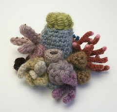 Miniature Coral Garden (gooseflesh) Tags: sculpture art coral garden soft crochet