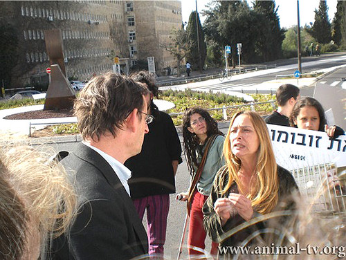 IARD 07 - Israel - Outside Knesset where animal rights were debated 3 by Uncaged - Protecting Animals.