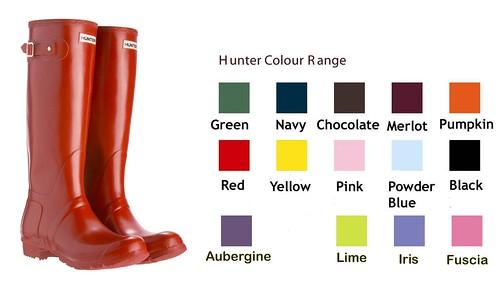 hunter colour-range boots