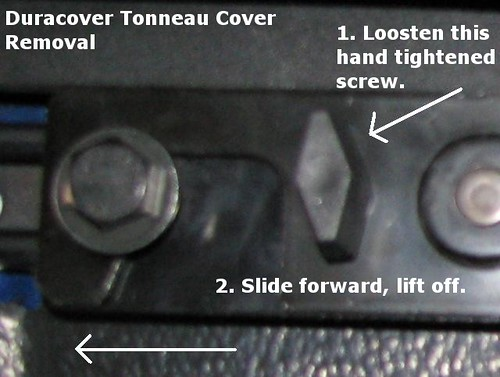 Duracover tonneau removal explained.