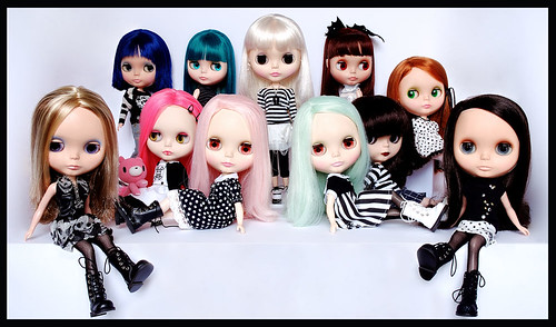 My Blythe doll familly by hello-d & Shifty.
