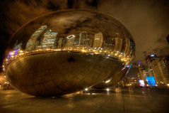 A little bean in the evening... (iceman9294) Tags: chicago illinois bean millenniumpark cloudgate thebean anishkapoor chriscoleman d300 flickrsbest abigfave anawesomeshot superbmasterpiece iceman9294 platinumheartaward nikond300 world100f flickrlovers
