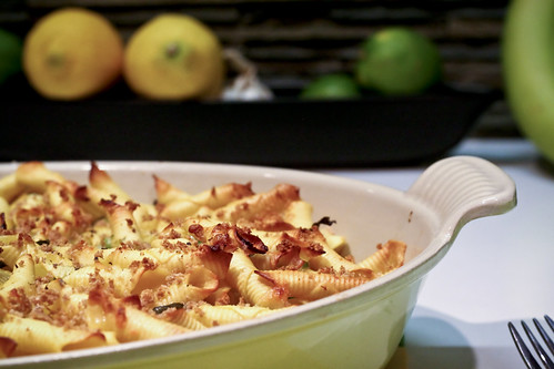 cheesy pasta & peas (or, grown-up mac & cheese)