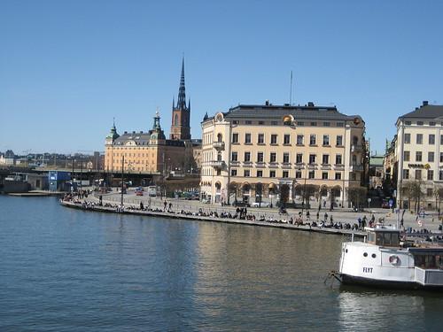 Sunbathing in Stockholm