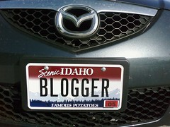 blogger license plate on my mazda 3