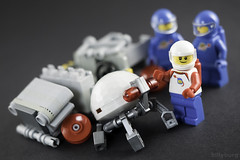 It's amazing what you can find on the moon.... (billyburg) Tags: lego classic space lunar moon rover dog droid bot henderson family ah bless febrovery willys jeep