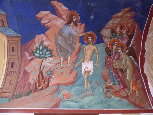 Kykkos Monastery, fresco - Baptism of Jesus