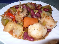 Vegetable Ginger Stew with Herb Dumplings